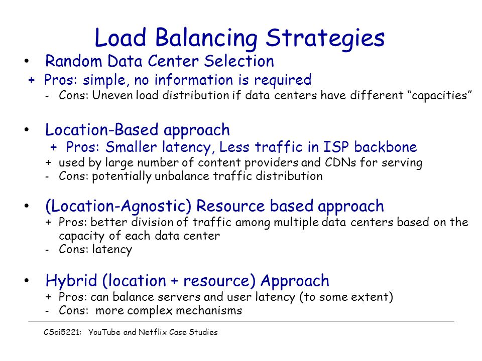 Load Balancing Strategies