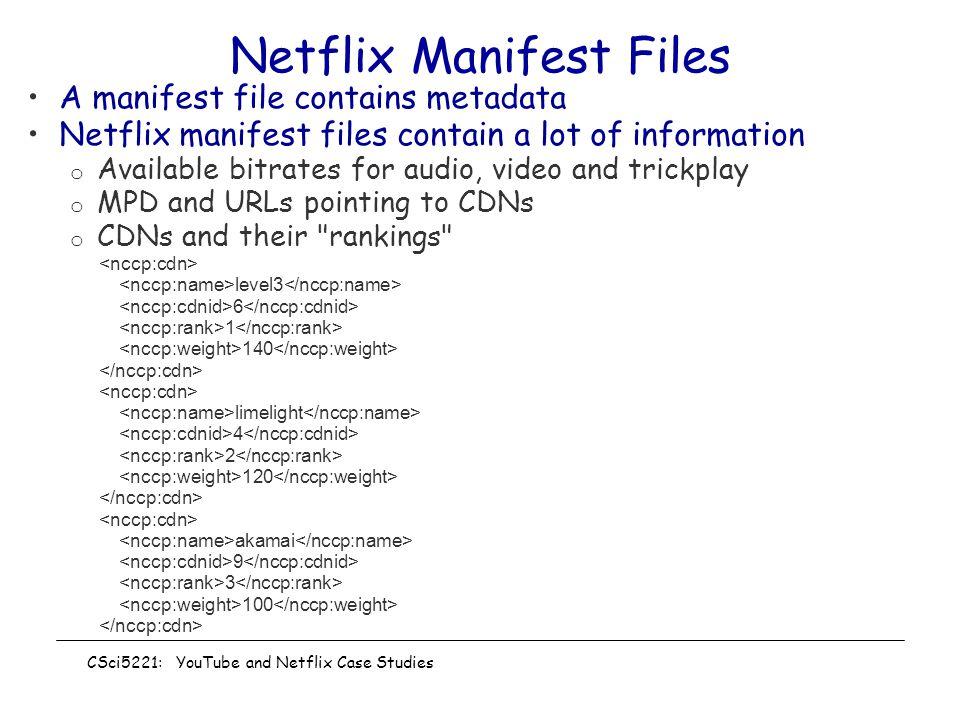 Netflix Manifest Files