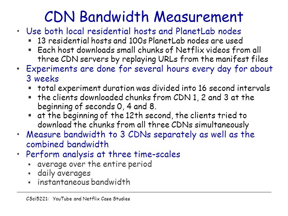 CDN Bandwidth Measurement