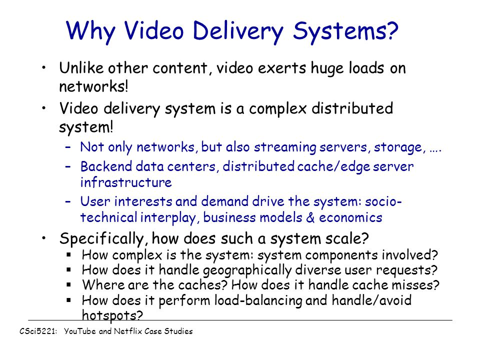 Why Video Delivery Systems