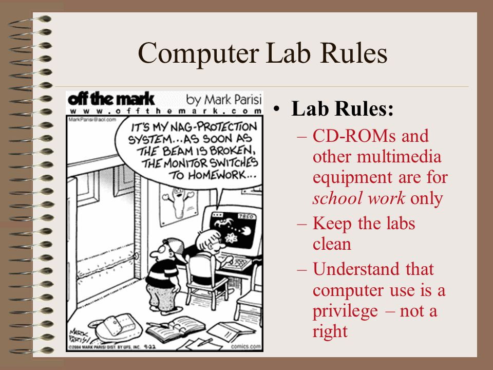 Computer Lab Rules Lab Rules: