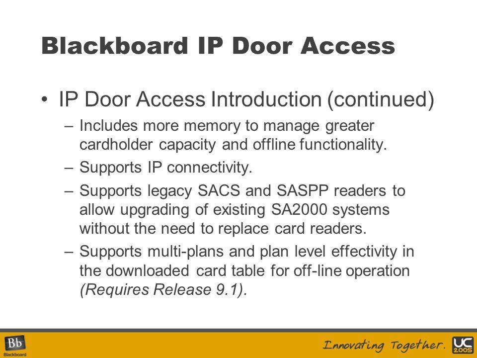 Blackboard IP Door Access