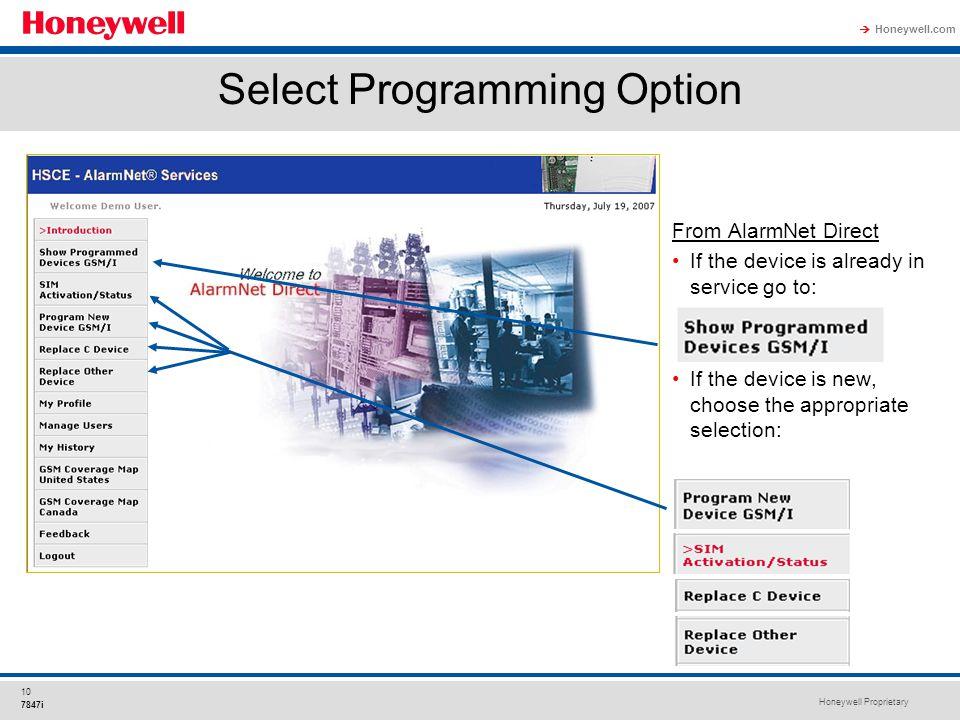 Select Programming Option