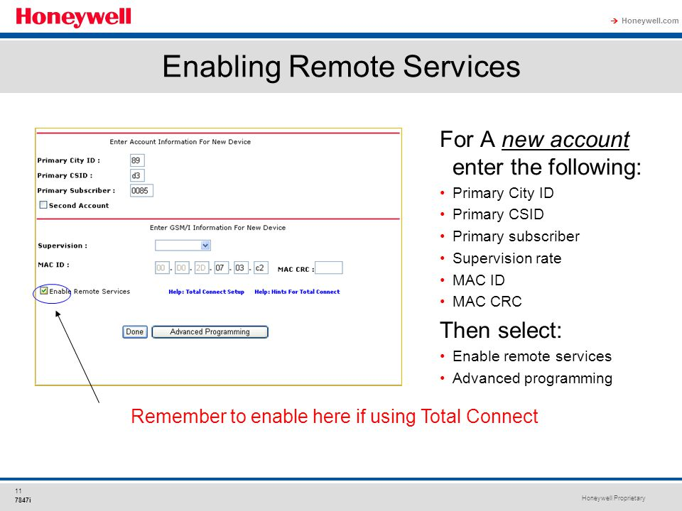 Enabling Remote Services