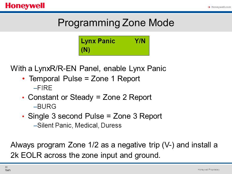 Programming Zone Mode With a LynxR/R-EN Panel, enable Lynx Panic