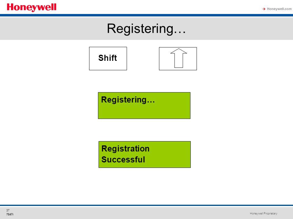 Registering… Shift Registering… Registration Successful