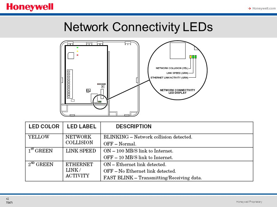 Network Connectivity LEDs