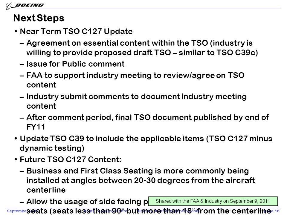 Next Steps Near Term TSO C127 Update