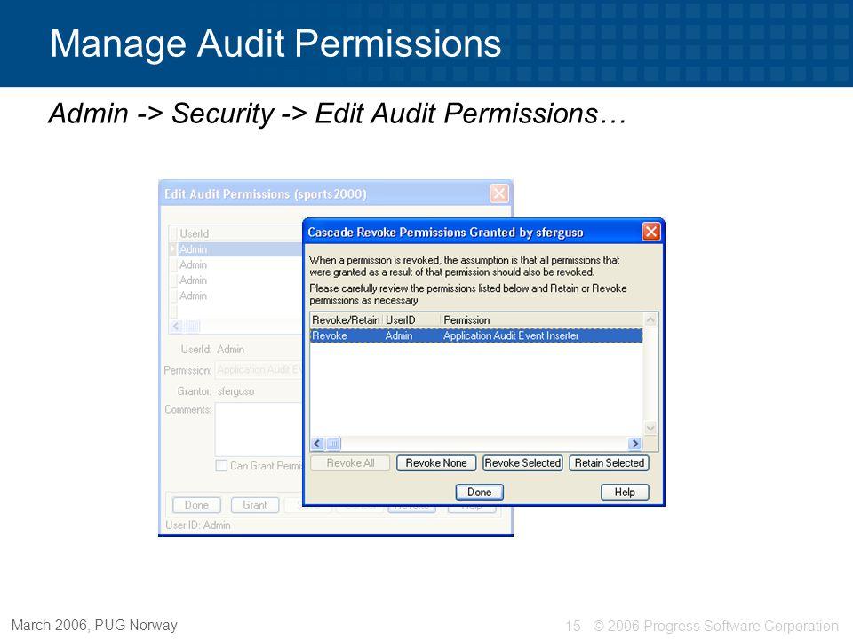Manage Audit Permissions