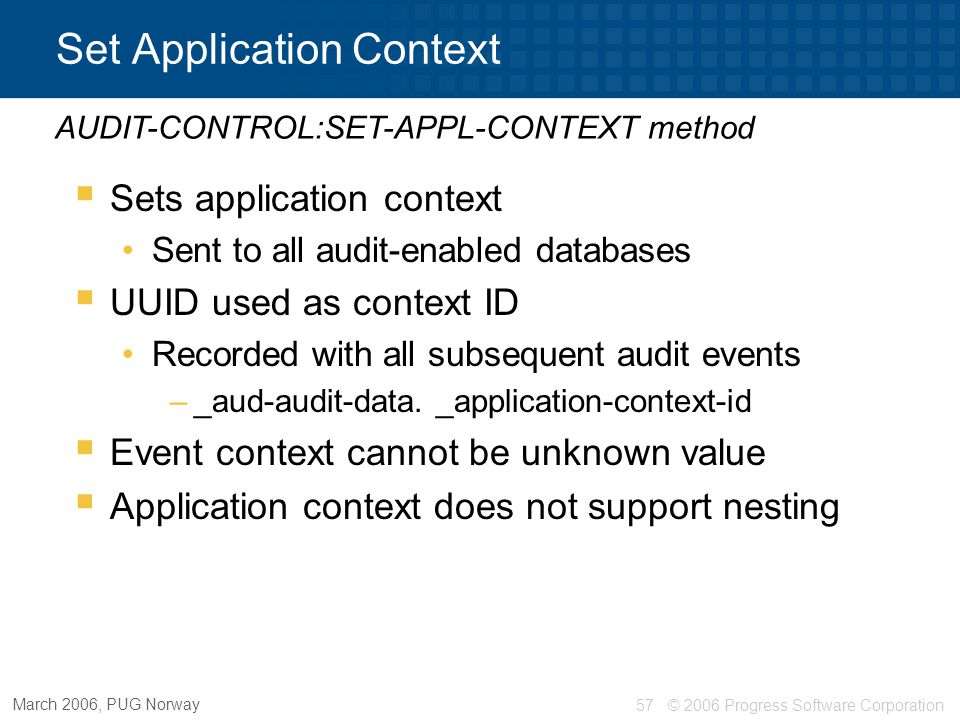 Set Application Context
