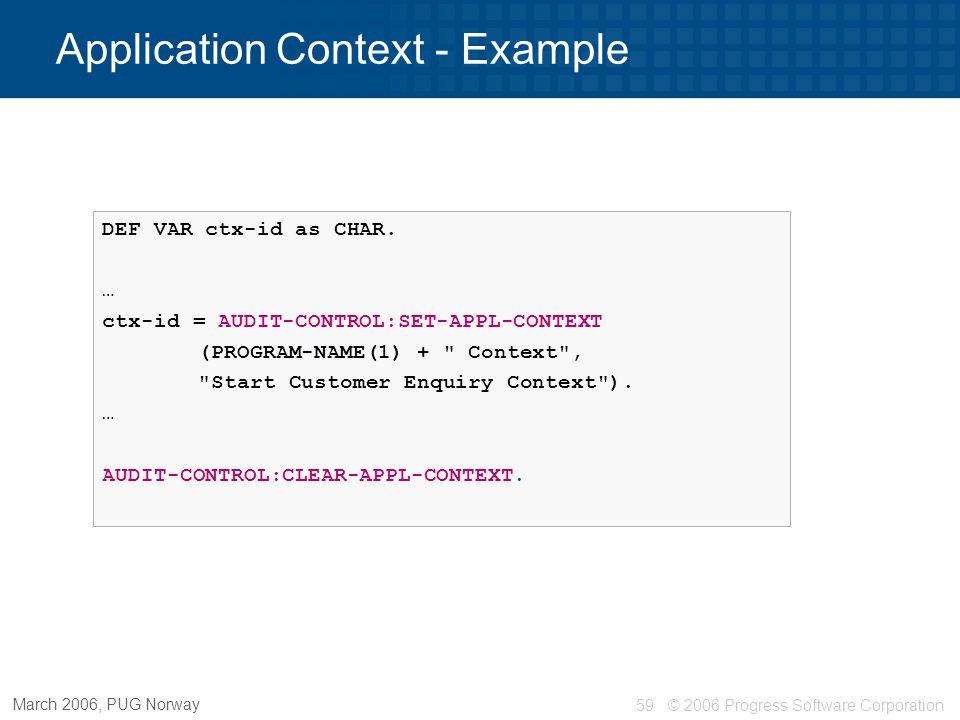 Application Context - Example