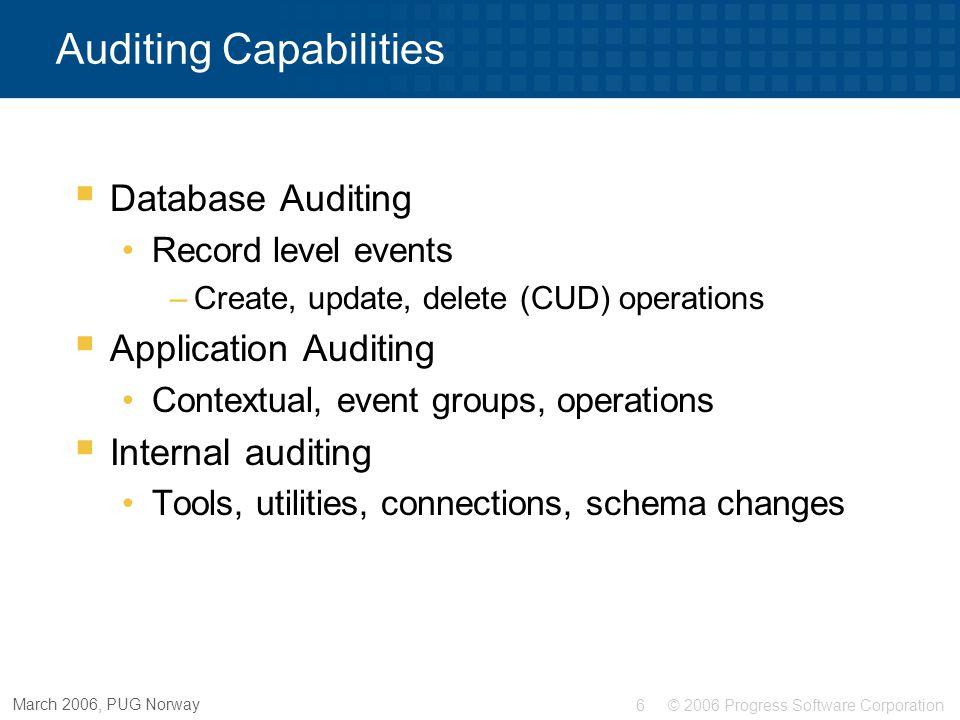 Auditing Capabilities