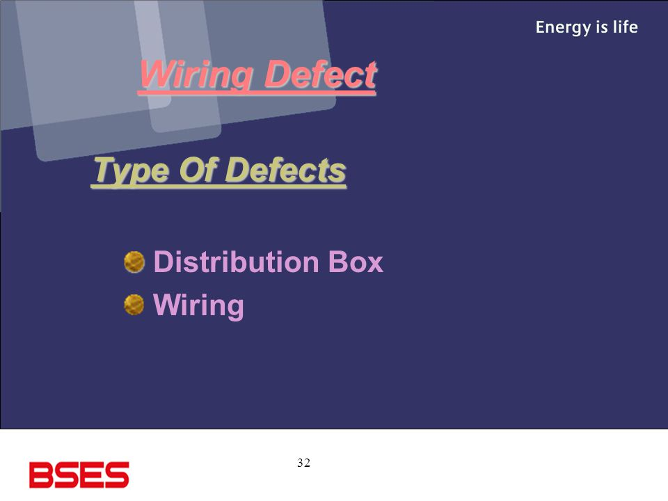Wiring Defect Type Of Defects Distribution Box Wiring