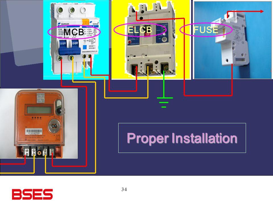 ELCB FUSE MCB Proper Installation