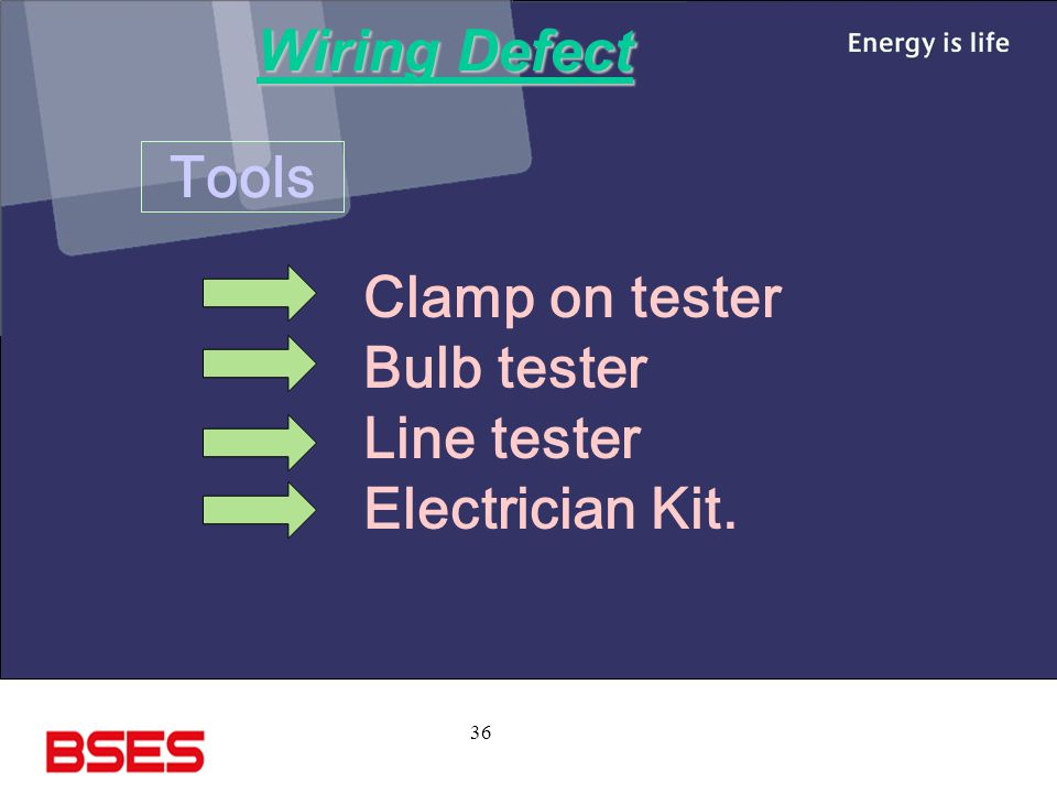 Wiring Defect Tools Clamp on tester Bulb tester Line tester Electrician Kit.