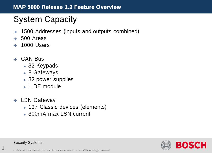 System Capacity MAP 5000 Release 1.2 Feature Overview