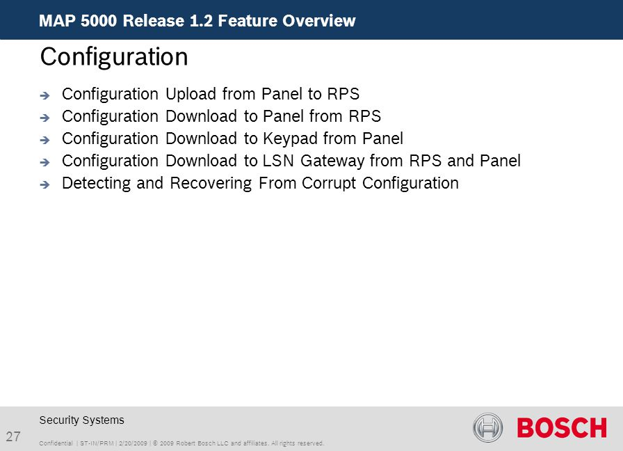 Configuration MAP 5000 Release 1.2 Feature Overview