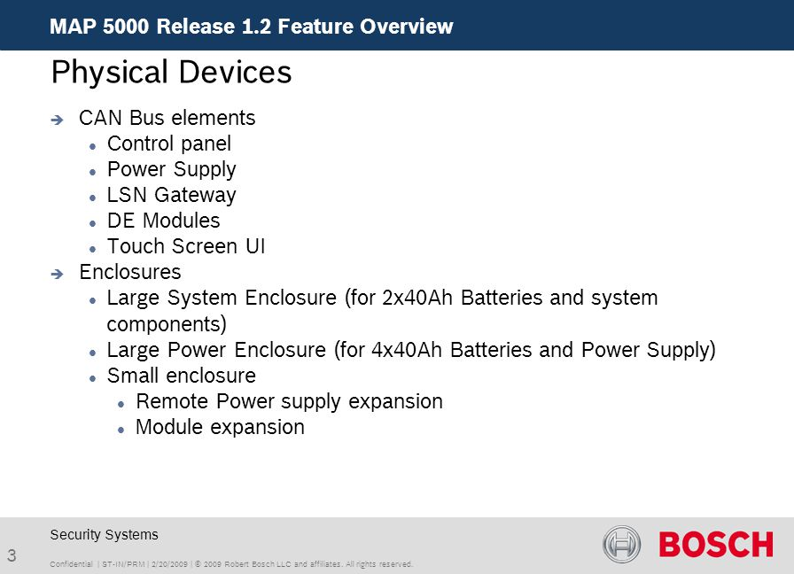 Physical Devices MAP 5000 Release 1.2 Feature Overview