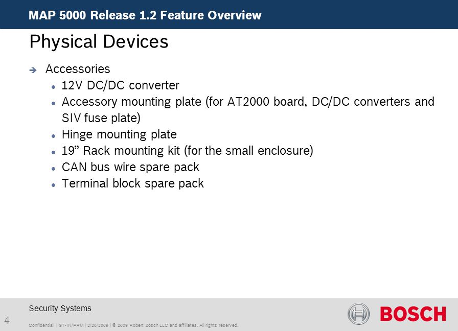 Physical Devices MAP 5000 Release 1.2 Feature Overview Accessories