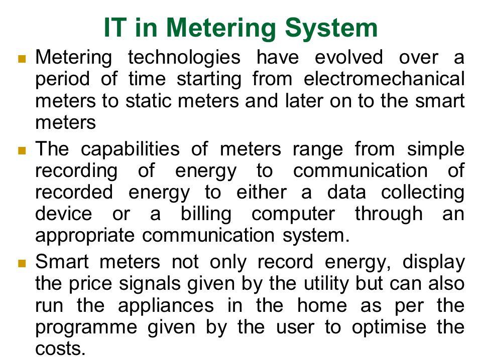 IT in Metering System