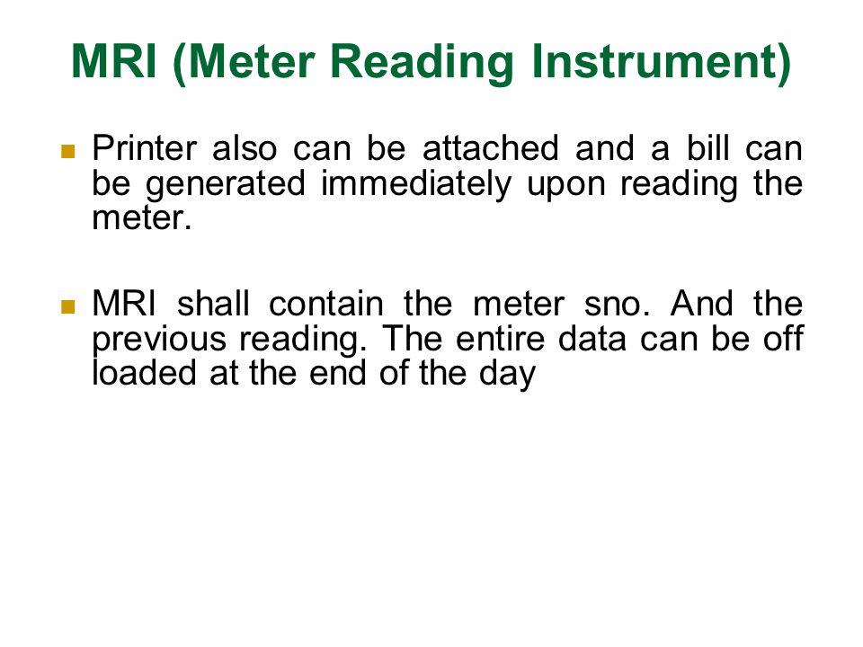 MRI (Meter Reading Instrument)