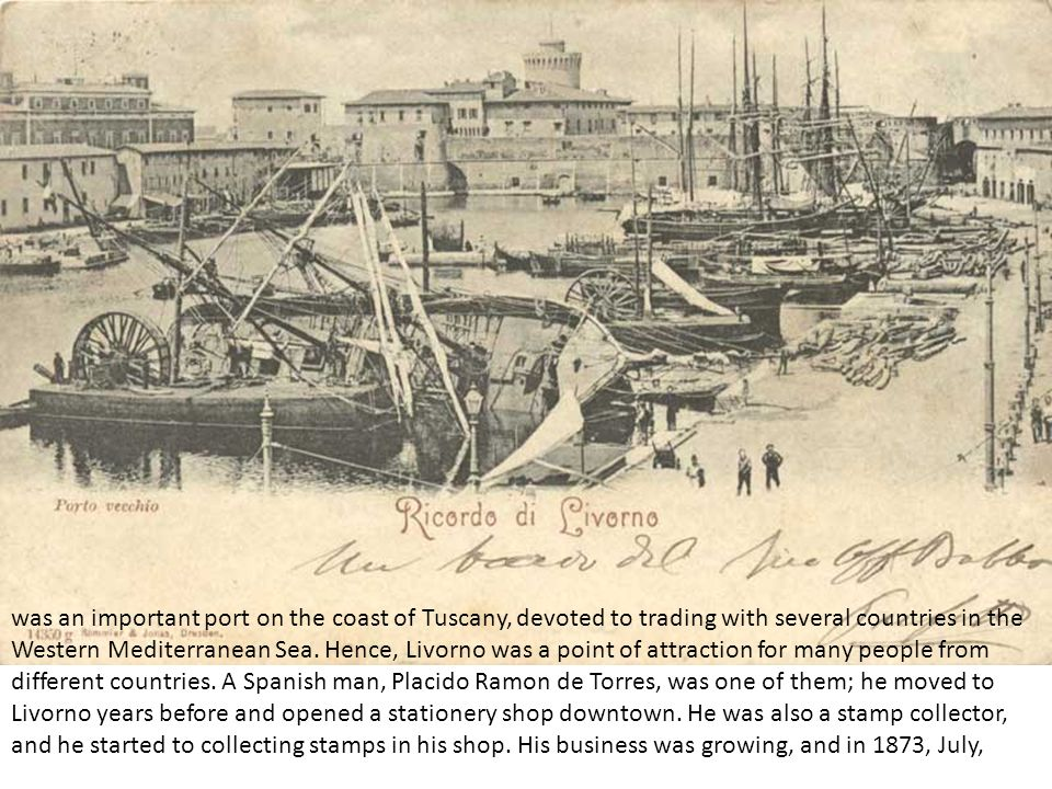 was an important port on the coast of Tuscany, devoted to trading with several countries in the Western Mediterranean Sea.