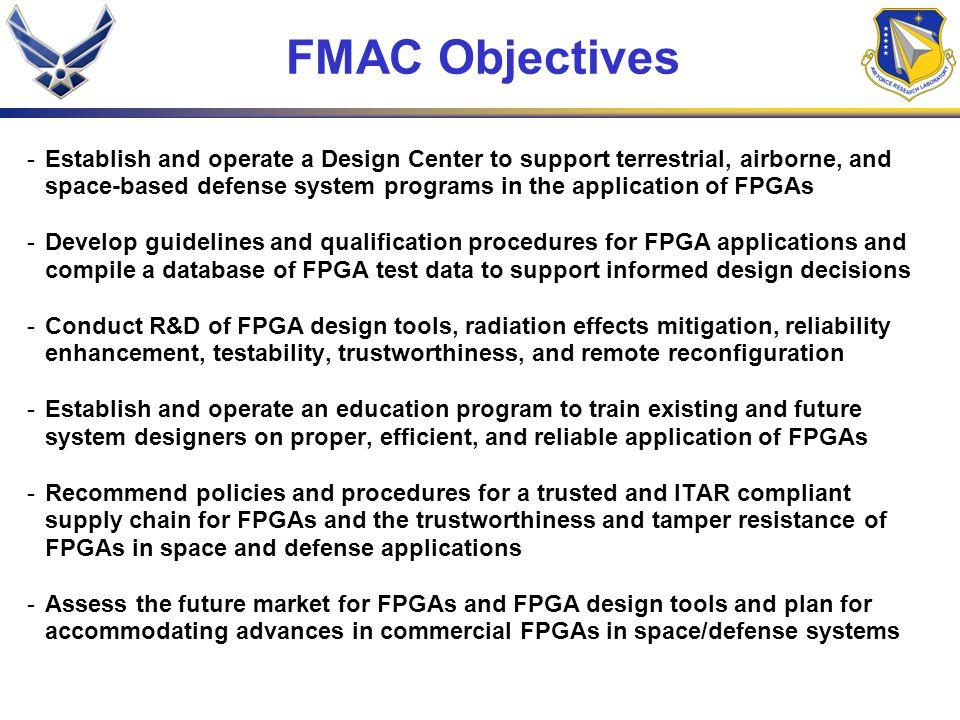 FMAC Objectives