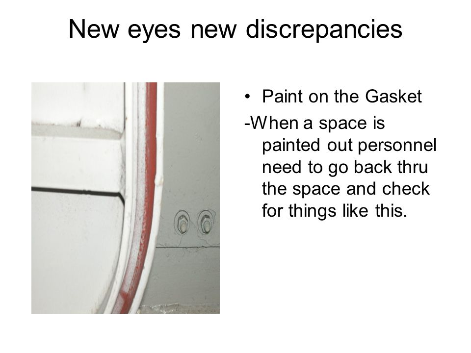 New eyes new discrepancies