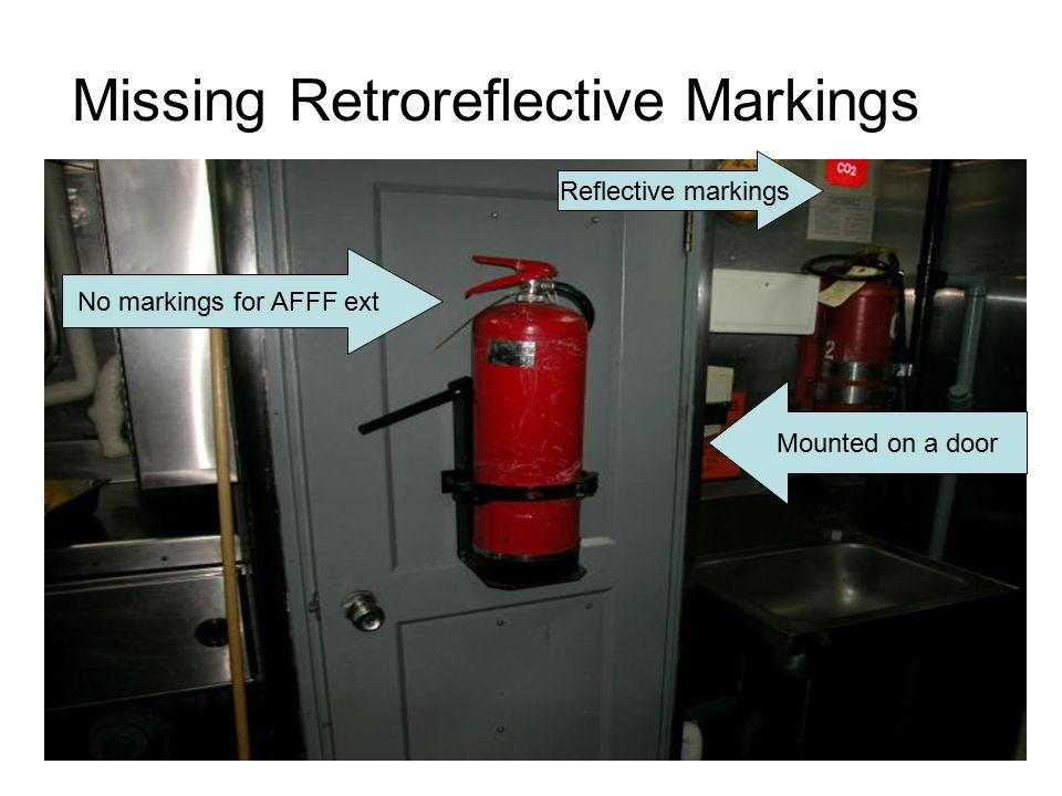 Missing Retroreflective Markings