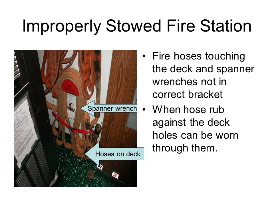 Improperly Stowed Fire Station