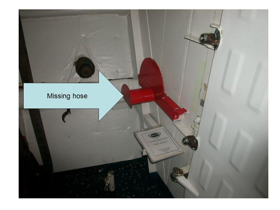 Missing hose