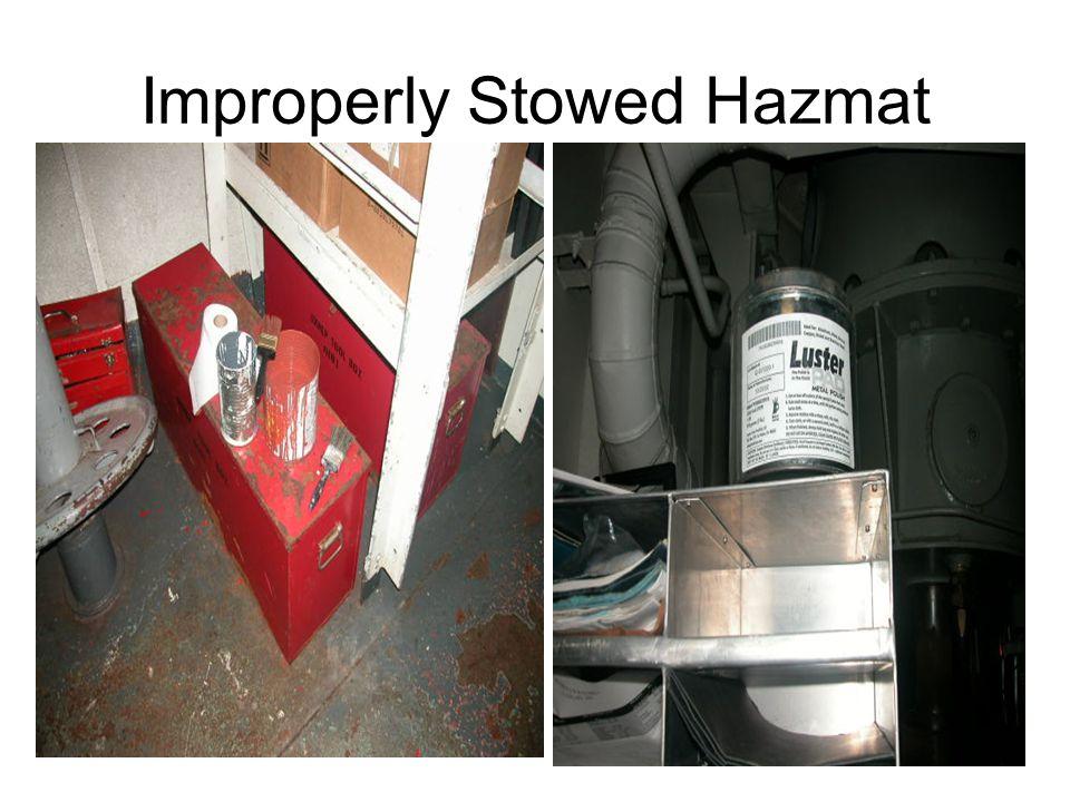 Improperly Stowed Hazmat