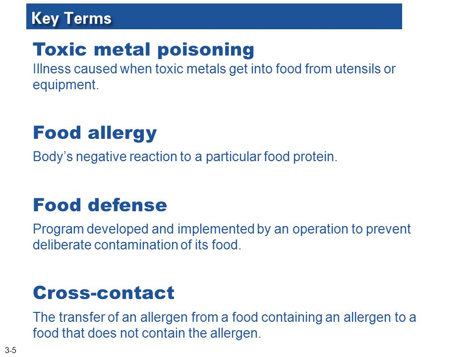 Food allergy Food defense Cross-contact
