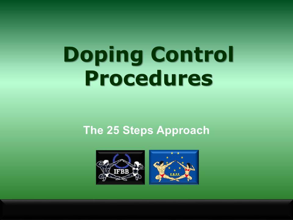 Doping Control Procedures