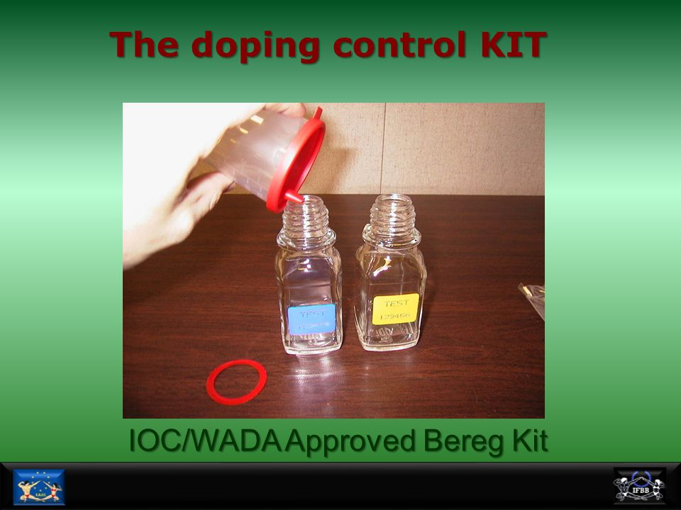 The doping control KIT IOC/WADA Approved Bereg Kit