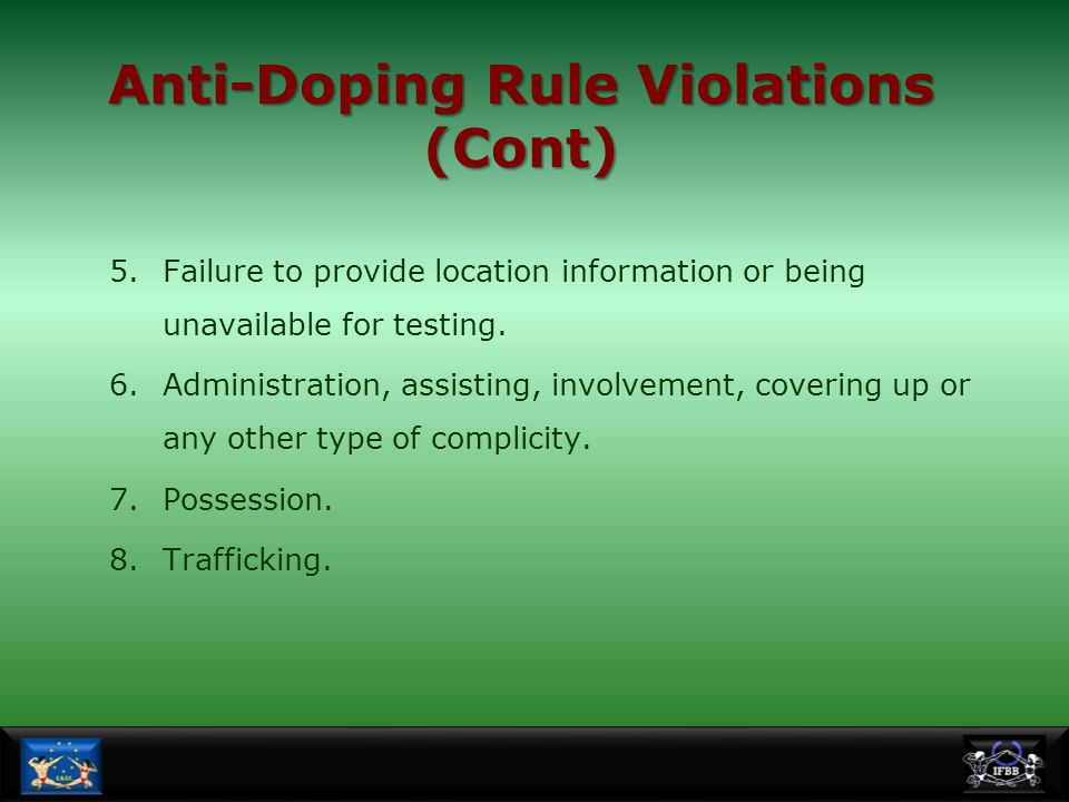 Anti-Doping Rule Violations