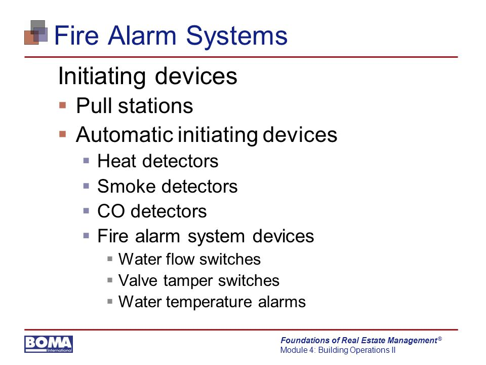 Fire Alarm Systems Initiating devices Pull stations