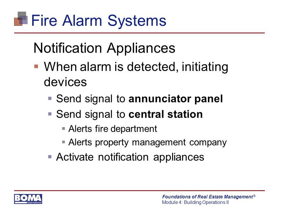 Fire Alarm Systems Notification Appliances