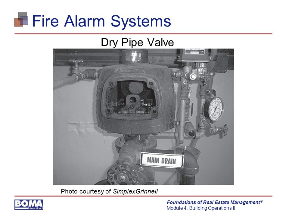 Fire Alarm Systems Dry Pipe Valve Photo courtesy of SimplexGrinnell