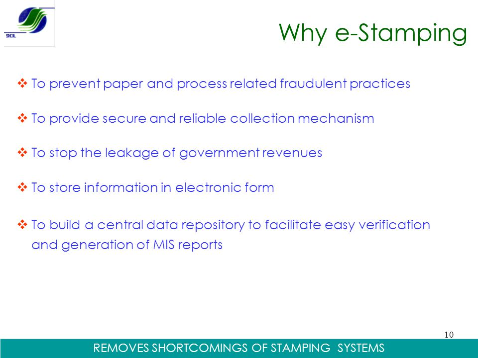 REMOVES SHORTCOMINGS OF STAMPING SYSTEMS