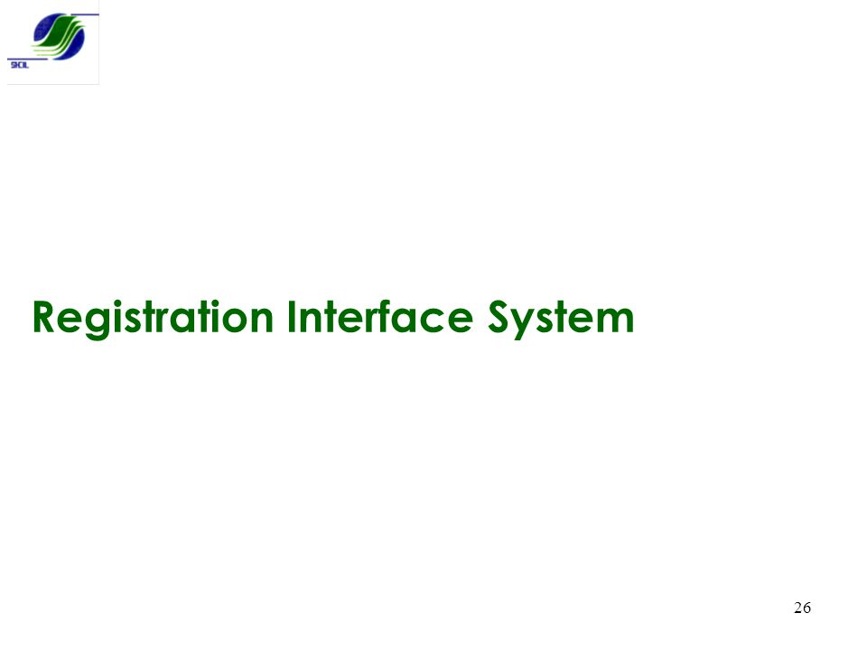 Registration Interface System