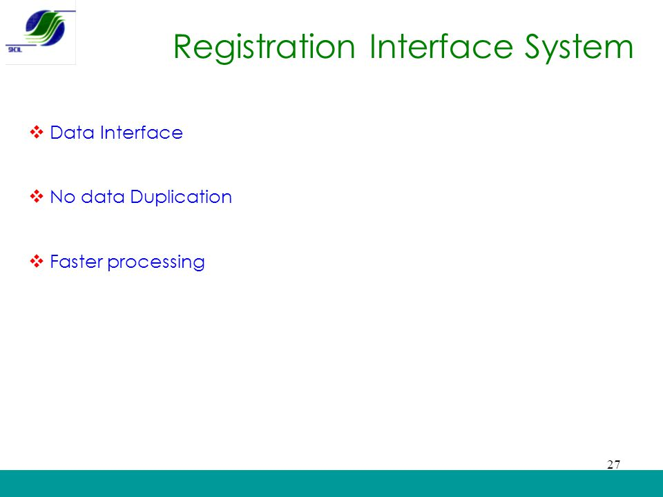 Registration Interface System