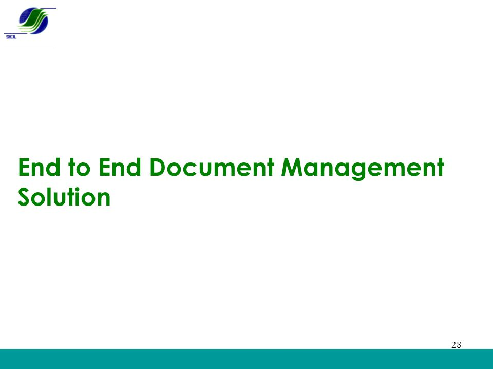 End to End Document Management Solution