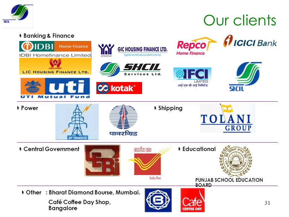 Our clients Banking & Finance Power Shipping Central Government