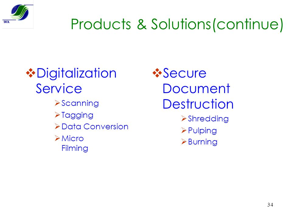 Products & Solutions(continue)