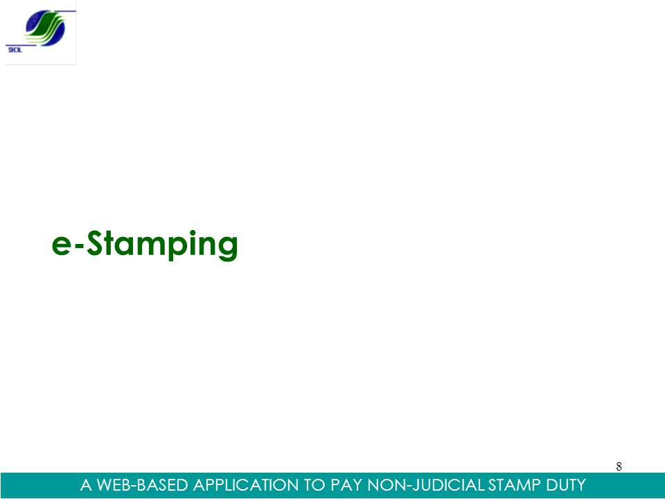 A WEB-BASED APPLICATION TO PAY NON-JUDICIAL STAMP DUTY