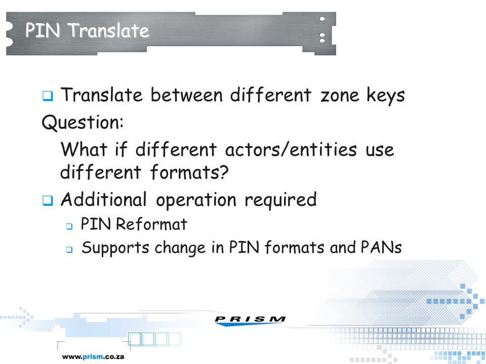 Translate between different zone keys Question: