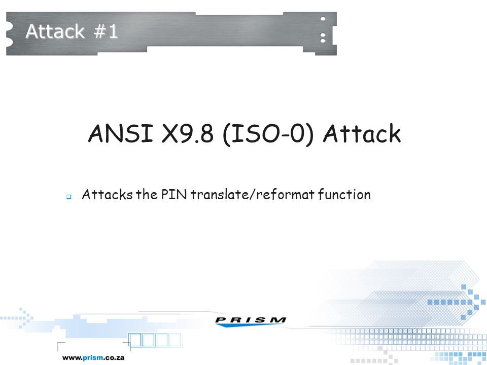 ANSI X9.8 (ISO-0) Attack Attack #1