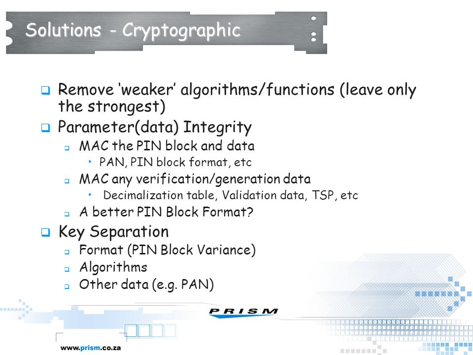 Solutions - Cryptographic