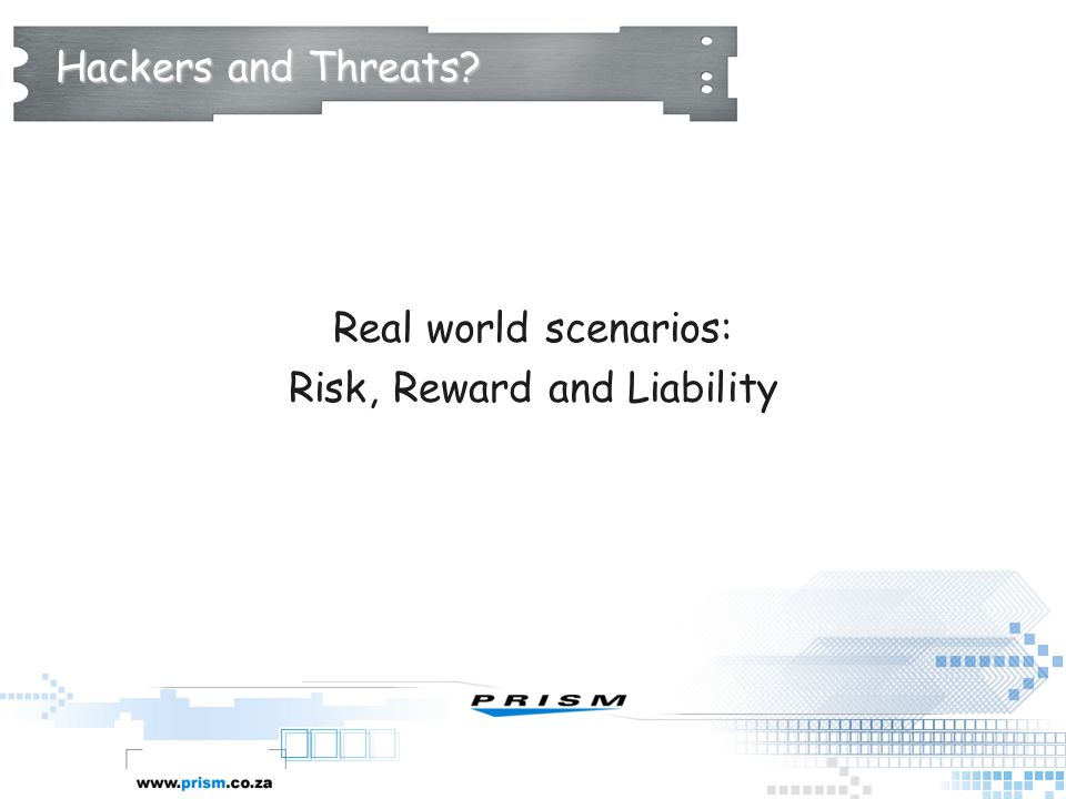 Risk, Reward and Liability